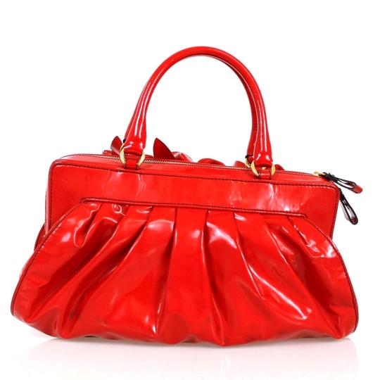 Valentino Candy Patent Leather Tote in Red