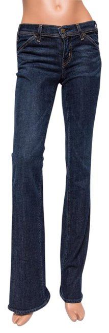 "Citizens of Humanity Low-rise 34"" Inseam Boot Cut Jeans-Dark Rinse"