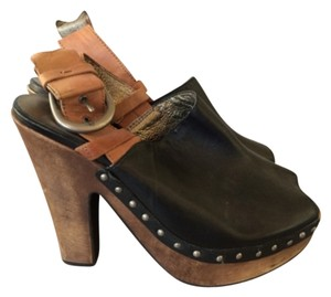 Daniblack Black and brown Mules