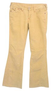 True Religion Boot Cut Pants medium yellow