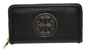 Tory Burch Amanda Leather Wallet Zip Around 500009091 New With Tags Nwt Continental 262077833103 Black Clutch
