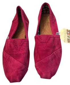 TOMS Hot Pink Corduroy Flats