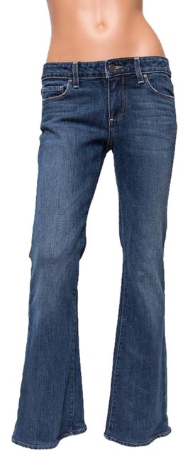 Paige Hollywood Hills Lowrise 28.5 Inseam Boot Cut Jeans-Medium Wash