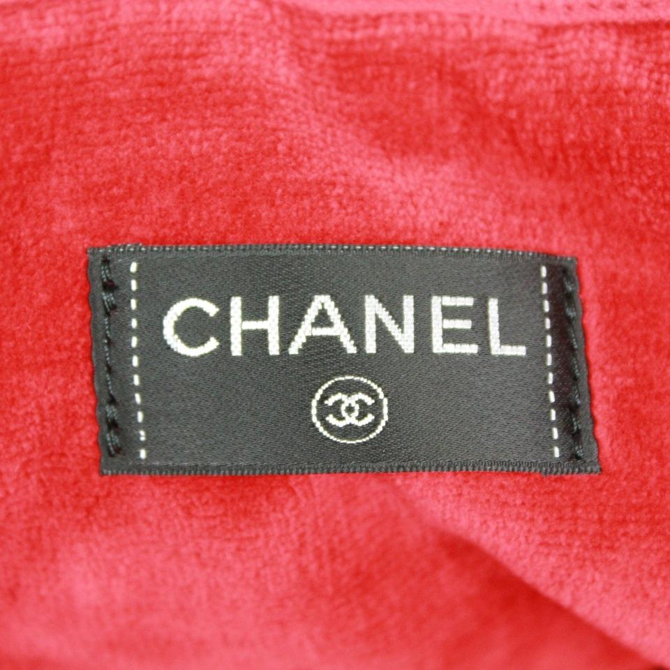 Chanel Towel: Chanel Quilted Cc And Towel Candy Red Cotton Beach Bag