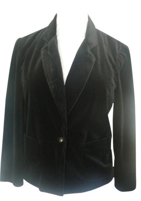 The Petite Concept By Milano Blazer Blouse 3/4 Sleeves Multi Colors Size 12 Black Blazer