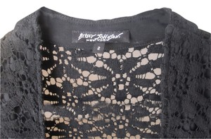 Betsey Johnson Top black cotton lace