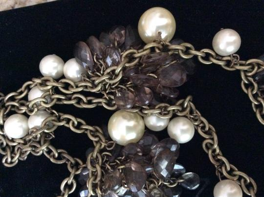 St. John St. John faux pearls and glass bead necklace