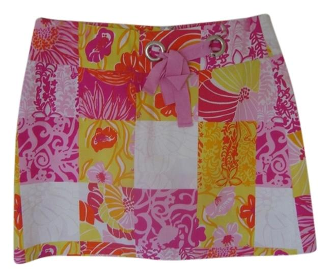 Lilly Pulitzer Mini Skirt Orange/Coral/Pink