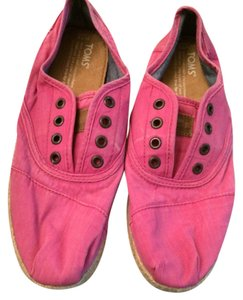 TOMS Hot Pink Canvas Flats