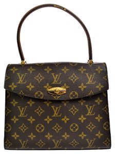 Louis Vuitton Malesherbes Monogram Canvas Leather Classic Vintage Neverfull Speedy Handbags Satchel in Brown