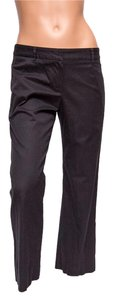 Trina Turk Midrise Cotton Capri/Cropped Pants Black