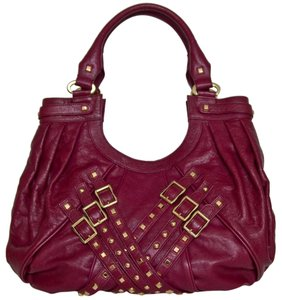 Treesje Studded Leather Pleated Oversized Hobo Bag