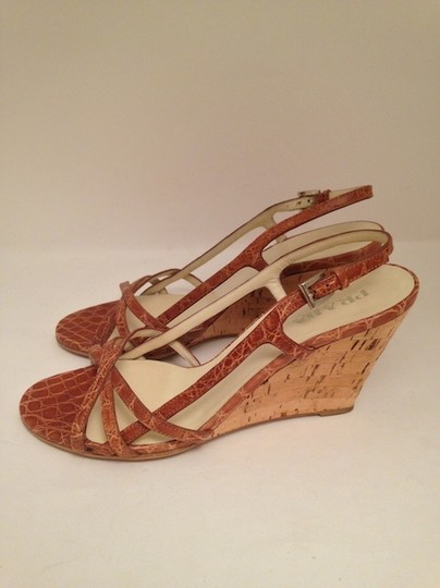 Prada Brown Wedges