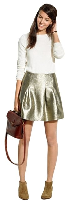 Item - Gold By J. Crew Shimmer In Skirt Size 4 (S, 27)
