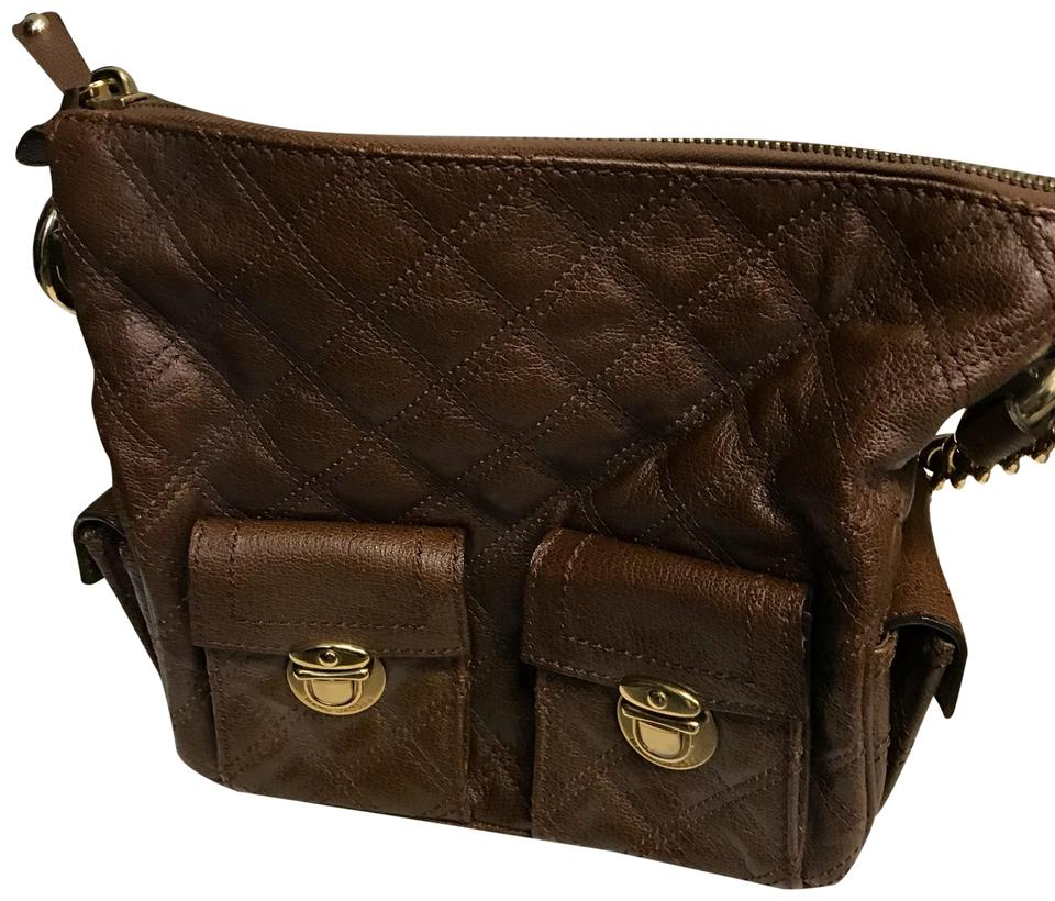 8704672f8c7 Marc Jacobs Vintage Brown Quilted Leather Hobo Bag - Tradesy