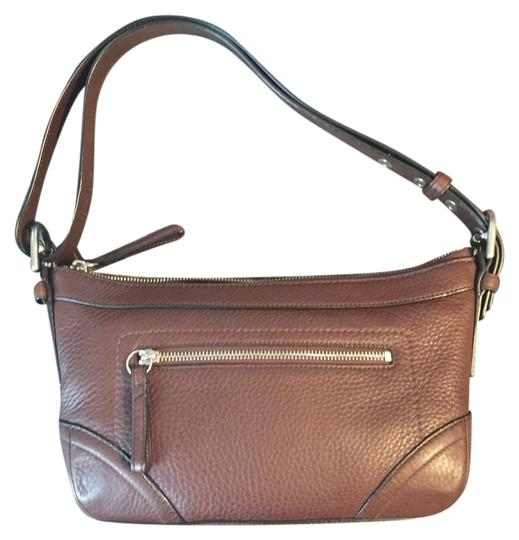 Coach Pebbled Leather Shoulder Classic Hobo Bag