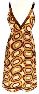 Maxi Dress by Hale Bob Geo Pattern Silk Sleeveless Print
