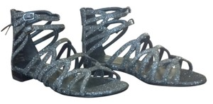 Stuart Weitzman Gladiator Nwot Gray/pewter Sandals