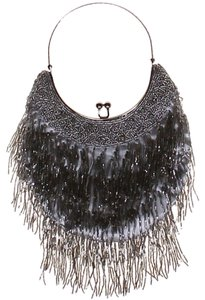 Other Silverescent Silk Beaded Fringe Hem Satchel