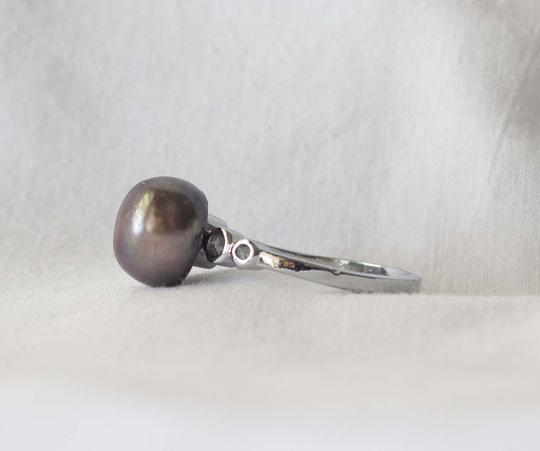 9mm tahitian pearl sterling silver ring 9mm tahitian pearl sterling silver ring