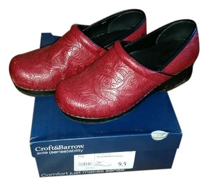 Croft & Barrow Red Mules