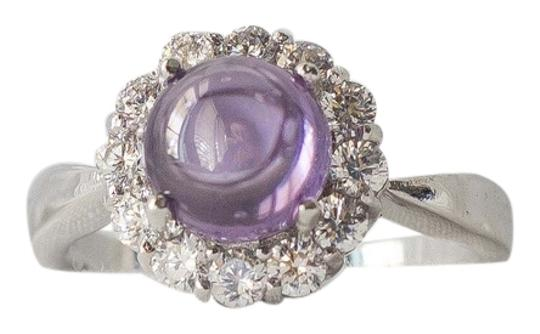 Other Genuine Amethyst Gemstone with halo crystals set in sterling silver