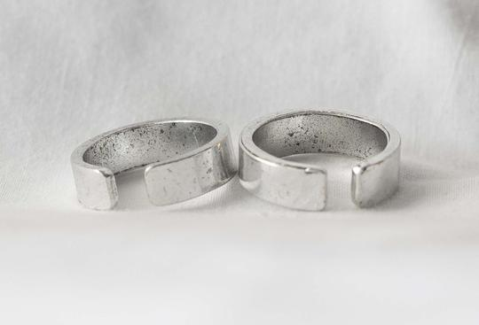 Other SET two rings i love you i know silver adjustable