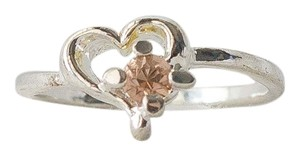 promise ring Peach Crystal Promise Love Heart Ring