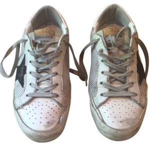 Golden Goose Deluxe Brand White with black star Athletic