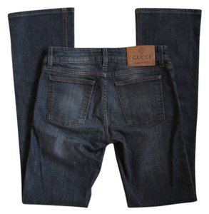 Gucci Gray Straight Leg Jeans-Dark Rinse