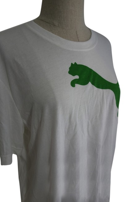 Puma Gym Workout Workout Gym Clothes T Shirt White and Green