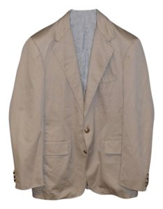 Polo Ralph Lauren MEN'S SUPERIOR KHAKI BRONZE BUTTON SPORTCOAT SIZE 40 R Blazer
