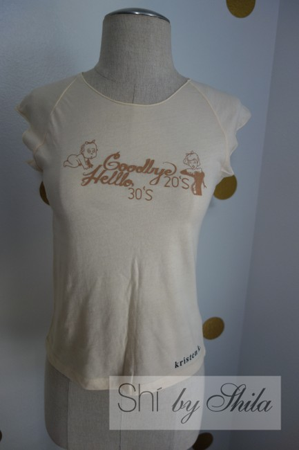 Other Goodbyes 20's And Hello 30's By Shila Baby Girl Girl Baby T Shirt Beige