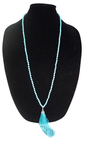Other Turquoise Beads Necklace with a Tassel Image 0