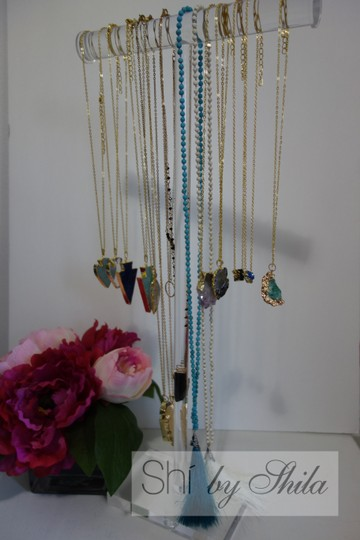 Other Turquoise Beads Necklace with a Tassel Image 6