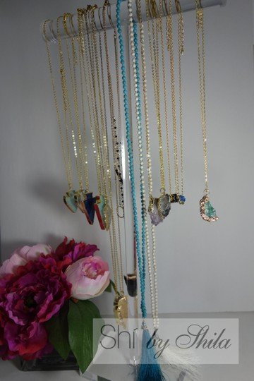 Other Turquoise Beads Necklace with a Tassel Image 7