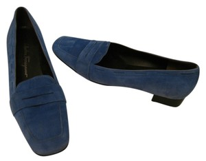 Salvatore Ferragamo dusty blue Flats