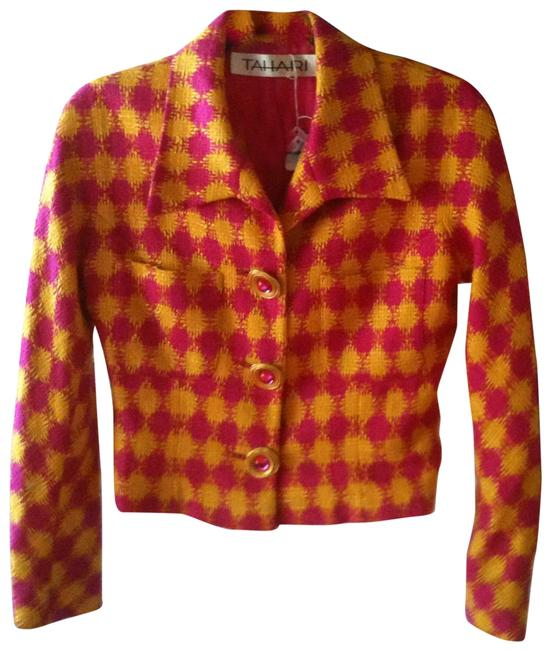 Preload https://img-static.tradesy.com/item/5778/elie-tahari-hot-pink-and-neon-yellow-vintage-ladies-jacket-above-knee-workoffice-dress-size-4-s-0-1-650-650.jpg