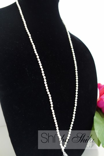 """Other """"Ina"""" Beads and Tassel Statement Necklace"""