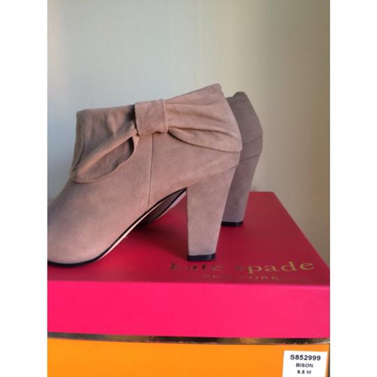 Kate Spade Light grey kid suede Boots