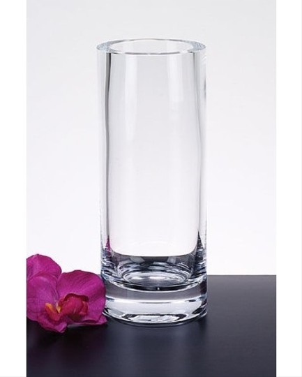 Clear 12 - 12x4 Tall Cylinder Vases - Thick Heavy Duty Centerpiece Image 1