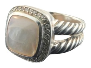 David Yurman David Yurman Mother Of Pearl Albion Ring With Diamonds