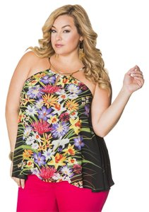 Ashley Stewart MULTI-COLOR Halter Top
