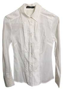 Club Monaco Cotton Button Down Shirt White