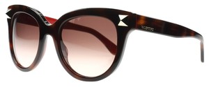 Valentino Valentino Women's Sunglasses Havana Rouge Cats Eye New