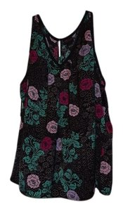 Torrid Sleeveless Flowy Top Black Floral