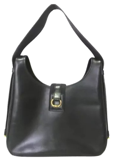 Hermès Tsako Reduced Black Leather Shoulder Bag Hermès Tsako Reduced Black Leather Shoulder Bag Image 1