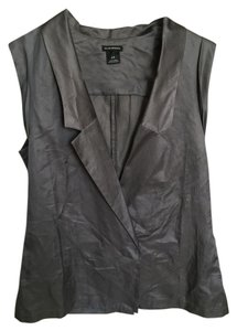 Club Monaco Silk Cotton Sleeveless Vest Blouse Soft Top Grey