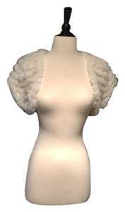 BCBGMAXAZRIA Sweater Shrug Cover-up Fur Vest