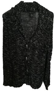BCBGMAXAZRIA Crochet Knit Bead Sweater